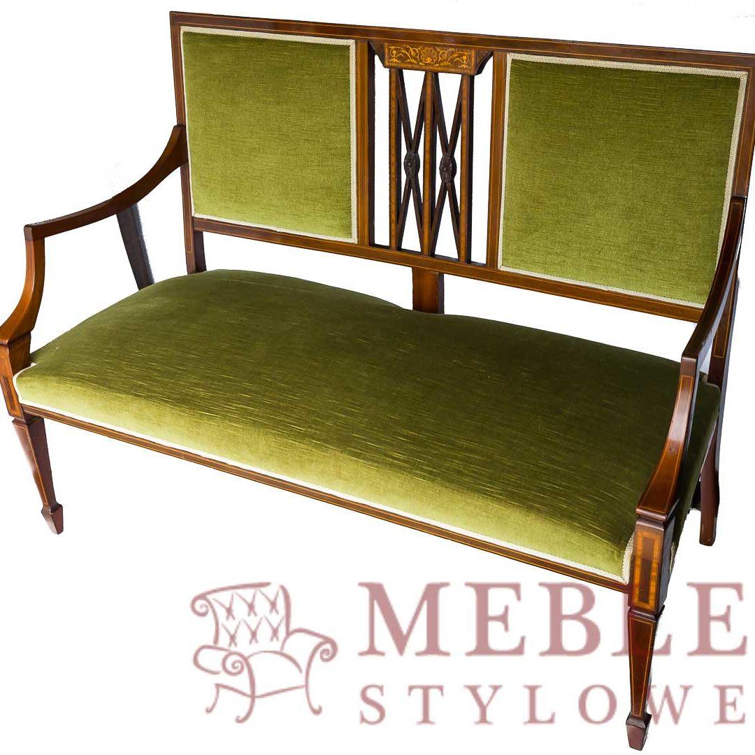 Meble – Stylowe, Ławeczka zielony welur 20170502-_DSC4685